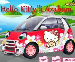Hello kitty li arabam