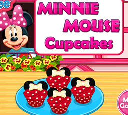 Minnie Mouse Cupcakeler